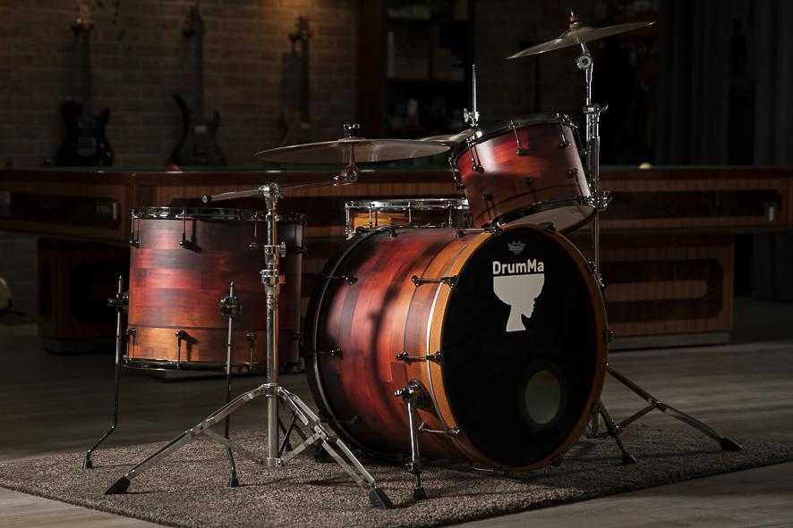 DrumMa Enrico Santangelo Signature Set - Honduras Pine - 24x18, 13x10, 18x16 - 3200€